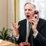 angry businessman yelling phone 53419 769